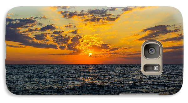 Galaxy Case featuring the photograph Sunrise Lake Michigan August 10th 2013 001 by Michael  Bennett