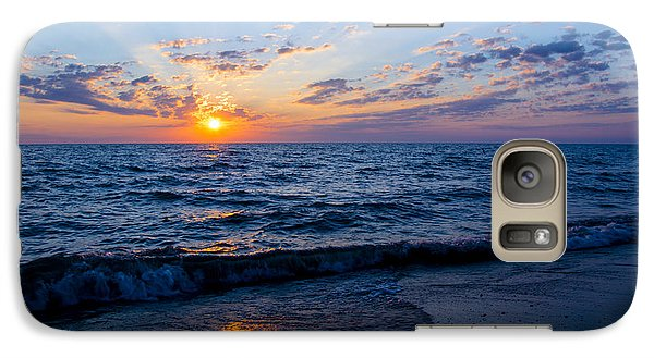 Galaxy Case featuring the photograph Sunrise Lake Michigan August 10th 2013 002 by Michael  Bennett