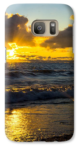 Galaxy Case featuring the photograph Sunrise Lake Michigan August 30th 2013 001  by Michael  Bennett