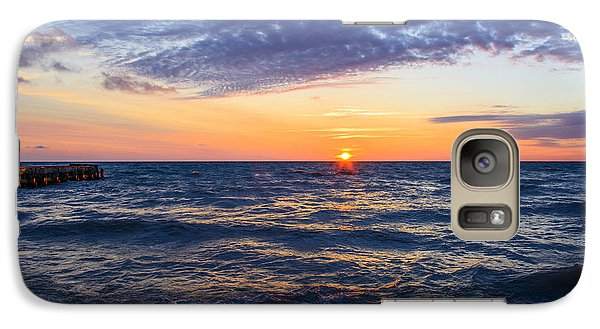 Galaxy Case featuring the photograph Sunrise Lake Michigan August 8th 2013 001 by Michael  Bennett