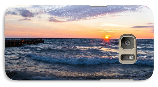 Galaxy Case featuring the photograph Sunrise Lake Michigan August 8th 2013 003 by Michael  Bennett