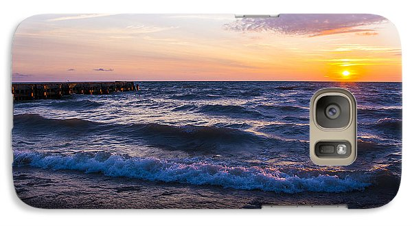 Galaxy Case featuring the photograph Sunrise Lake Michigan August 8th 2013 004 by Michael  Bennett