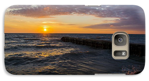 Galaxy Case featuring the photograph Sunrise Lake Michigan August 8th 2013 005 by Michael  Bennett