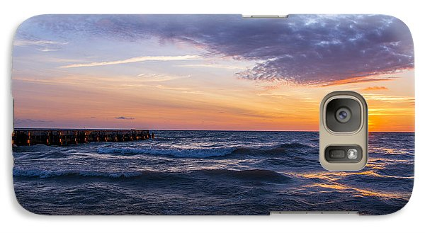 Galaxy Case featuring the photograph Sunrise Lake Michigan August 8th 2013 007 by Michael  Bennett