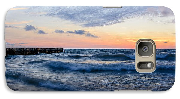 Galaxy Case featuring the photograph Sunrise Lake Michigan August 8th 2013  by Michael  Bennett