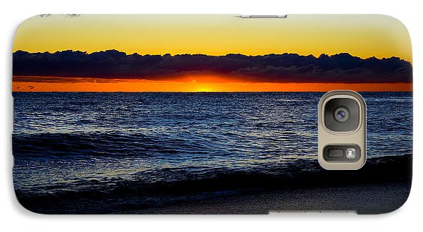 Galaxy Case featuring the photograph Sunrise Lake Michigan September 14th 2013 008 by Michael  Bennett