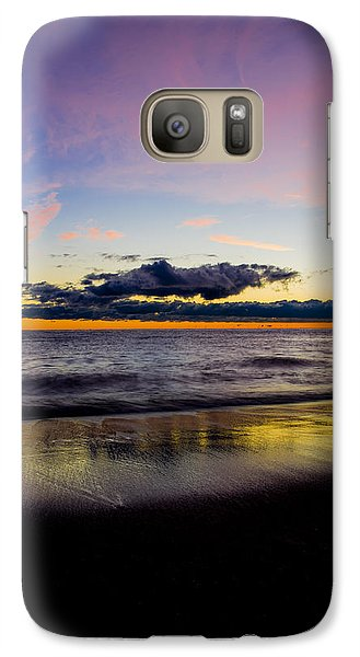 Galaxy Case featuring the photograph Sunrise Lake Michigan September 14th 2013 010 by Michael  Bennett