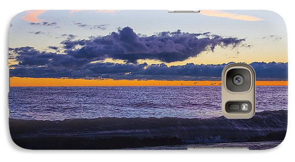 Galaxy Case featuring the photograph Sunrise Lake Michigan September 14th 2013 011 by Michael  Bennett