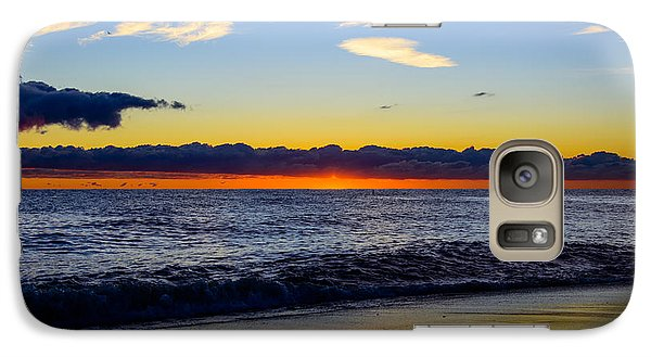 Galaxy Case featuring the photograph Sunrise Lake Michigan September 14th 2013 012 by Michael  Bennett