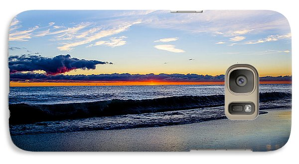 Galaxy Case featuring the photograph Sunrise Lake Michigan September 14th 2013 013 by Michael  Bennett