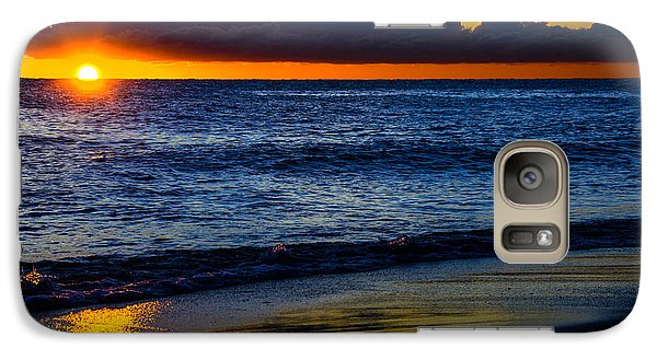 Galaxy Case featuring the photograph Sunrise Lake Michigan September 14th 2013 015 by Michael  Bennett
