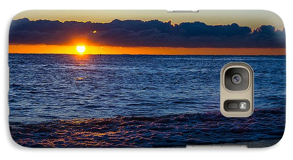 Galaxy Case featuring the photograph Sunrise Lake Michigan September 14th 2013 016 by Michael  Bennett