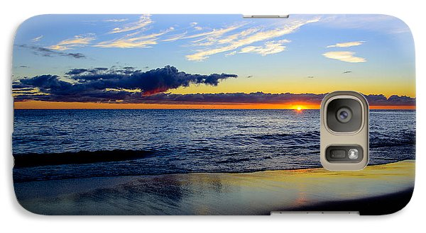 Galaxy Case featuring the photograph Sunrise Lake Michigan September 14th 2013 017 by Michael  Bennett
