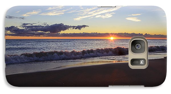 Galaxy Case featuring the photograph Sunrise Lake Michigan September 14th 2013 018 by Michael  Bennett