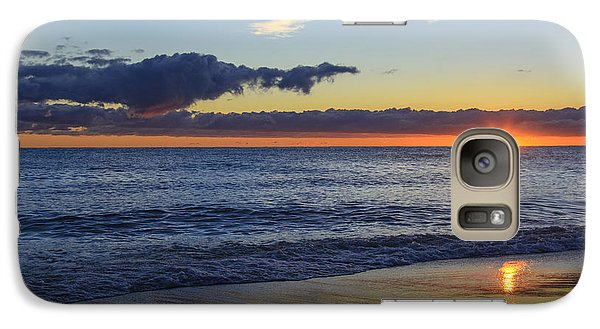 Galaxy Case featuring the photograph Sunrise Lake Michigan September 14th 2013 019 by Michael  Bennett