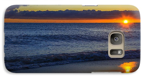 Galaxy Case featuring the photograph Sunrise Lake Michigan September 14th 2013 020 by Michael  Bennett