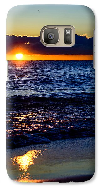Galaxy Case featuring the photograph Sunrise Lake Michigan September 14th 2013 021 by Michael  Bennett