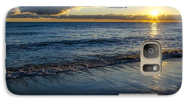 Galaxy Case featuring the photograph Sunrise Lake Michigan September 14th 2013 023 by Michael  Bennett
