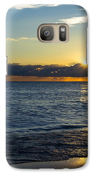 Galaxy Case featuring the photograph Sunrise Lake Michigan September 14th 2013 025 by Michael  Bennett