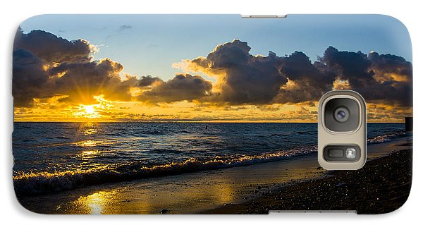 Galaxy Case featuring the photograph Sunrise Lake Michigan September 2nd 2013 004 by Michael  Bennett