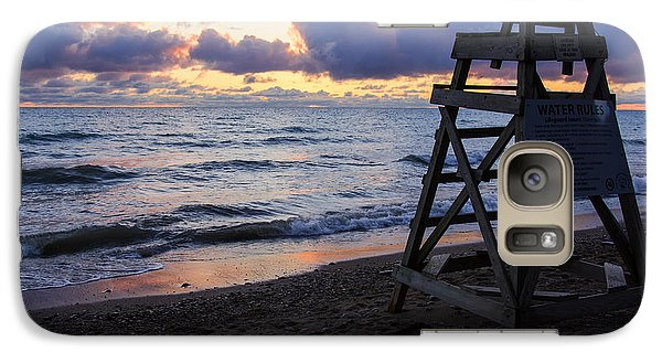Galaxy Case featuring the photograph Sunrise Lake Michigan September 2nd 2013 005 by Michael  Bennett