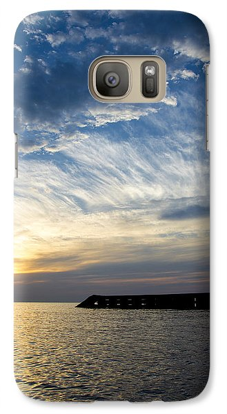 Galaxy Case featuring the photograph Sunrise Lake Michigan September 7th 2013  by Michael  Bennett