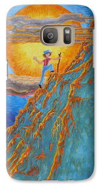 Galaxy Case featuring the painting Sunrise by Matt Konar