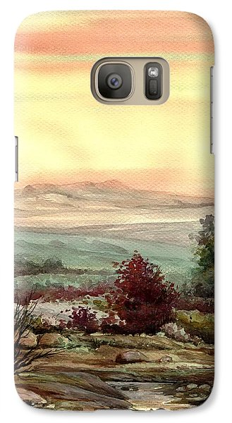 Galaxy Case featuring the painting Sunrise by Mikhail Savchenko