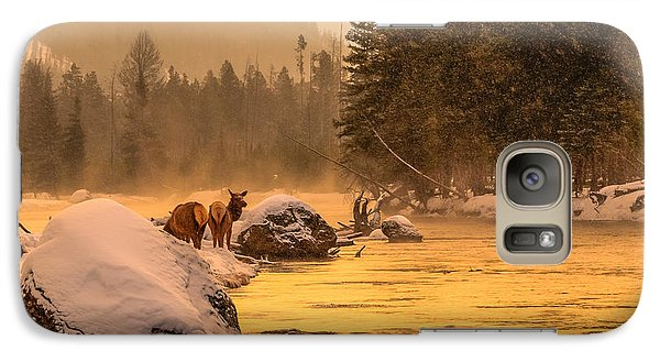Galaxy Case featuring the photograph Sunrise On Madison River by Yeates Photography