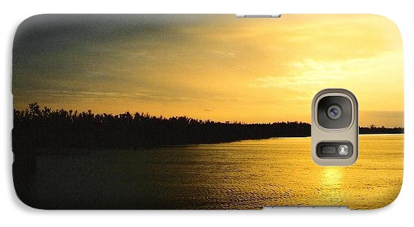Galaxy Case featuring the photograph Sunrise On Ole Man River by Michael Hoard