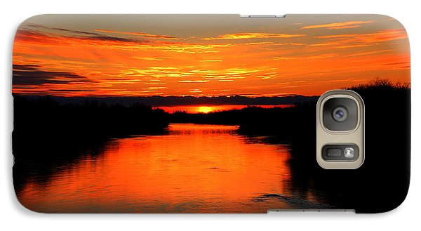 Galaxy Case featuring the photograph Sunrise On The Assiniboine by Larry Trupp
