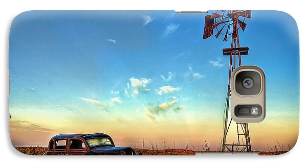 Galaxy Case featuring the photograph Sunrise On The Farm by Ken Smith