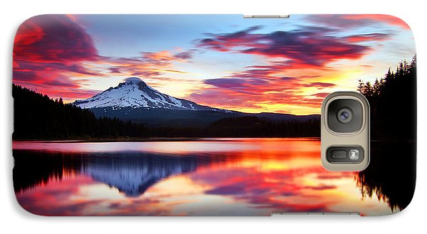 Mount Rushmore Galaxy S7 Case - Sunrise On The Lake by Darren  White