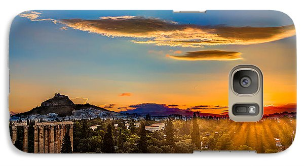 Galaxy Case featuring the photograph Sunrise On The Temple Of Olympian Zeus by Micah Goff
