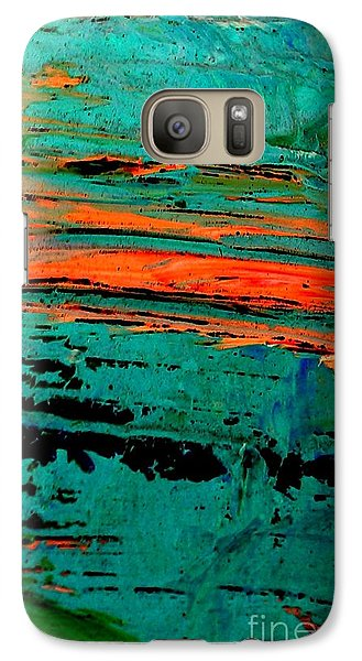Galaxy Case featuring the painting Sunrise On The Water by Jacqueline McReynolds