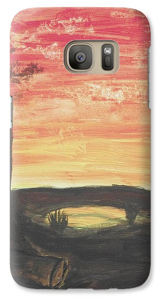 Galaxy Case featuring the painting Sunrise Or Sunset by Martin Blakeley