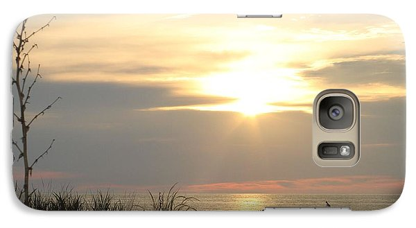 Galaxy Case featuring the photograph Sunrise Over Beach Dune by Robert Banach