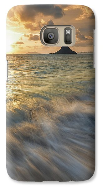 Galaxy Case featuring the photograph Sunrise Over Mokoli'i by Hawaii  Fine Art Photography