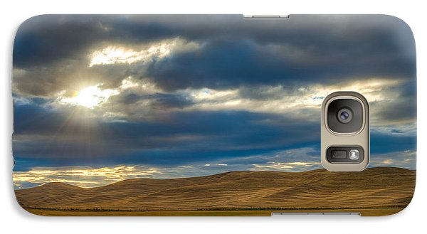 Galaxy Case featuring the photograph Sunrise Over Palouse Road by Chris McKenna