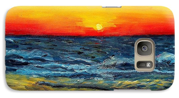 Galaxy Case featuring the painting Sunrise Over Paradise by Shana Rowe Jackson