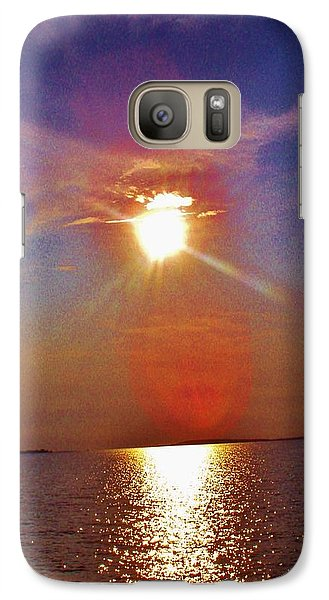 Galaxy Case featuring the photograph Sunrise Over The Big Mac by Daniel Thompson