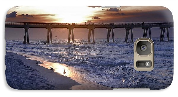 Galaxy Case featuring the photograph Sunrise Over The Pier by Renee Hardison