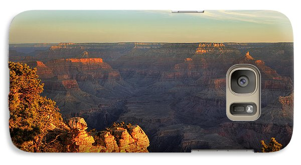 Galaxy Case featuring the photograph Sunrise Over Yaki Point At The Grand Canyon by Alan Vance Ley