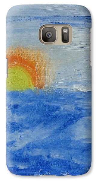Galaxy Case featuring the painting Sunrise by PainterArtist FINs daughter