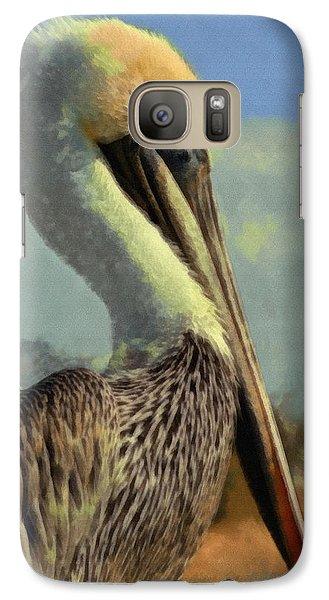 Sunrise Pelican Galaxy Case by Ernie Echols