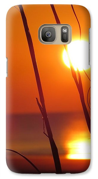 Galaxy Case featuring the photograph Sunrise Plant by Nikki McInnes