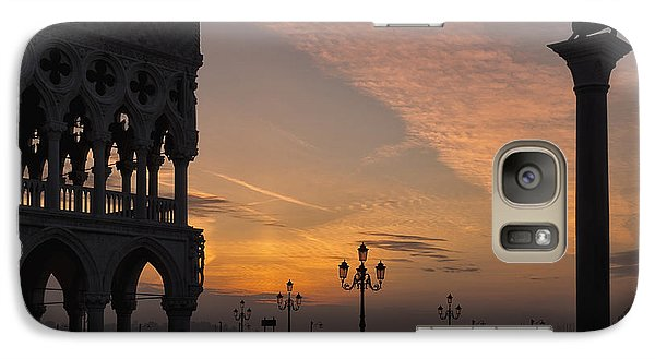 Galaxy Case featuring the photograph Sunrise St Mark's Square by Marion Galt