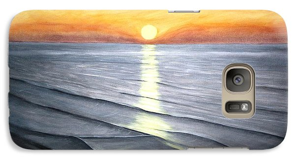 Galaxy Case featuring the painting Sunrise by Stacy C Bottoms