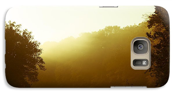Galaxy Case featuring the photograph Sunrise Thru The Fog by Phil Abrams