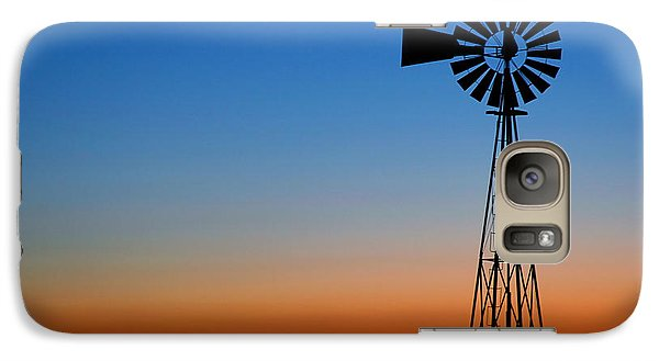 Galaxy Case featuring the photograph Sunrise Windmill by Steven Reed